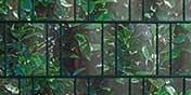 PVC Motiv Sichtschutz Kirschlorbeer
