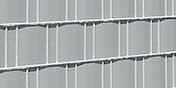 Weich PVC Sichtschutz lichtgrau
