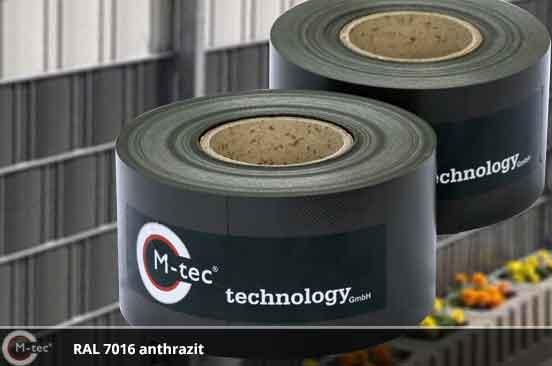 PVC - Kunststoffstreifen: Sichtschutz anthrazitgrau RAL 7016 ...