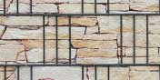 PVC Sichtschutz Sandsteinmauer Tessin