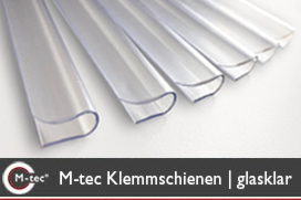 M-tec Klemmschienen transparent glasklar
