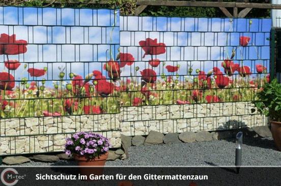 M-tec Sichtschutz im Garten