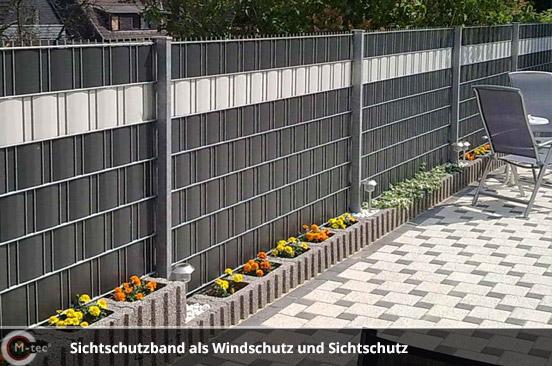 M-tec Sichtschutzband als Windschutz und Sichtschutz