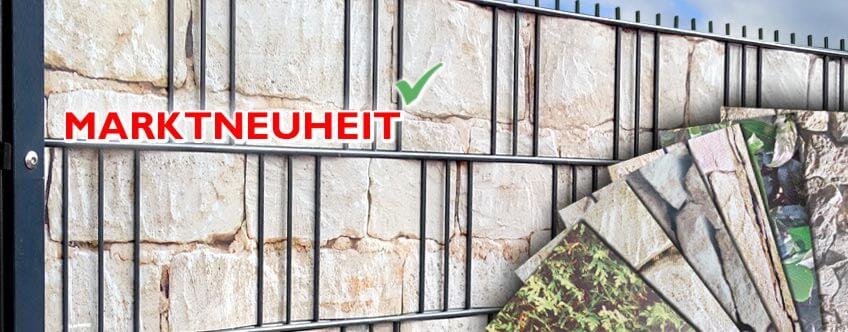 M-tec print® Hart-PVC Sichtschutzstreifen mit Motiv