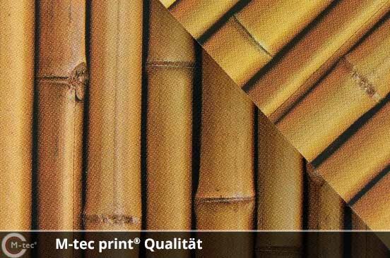 M-tec print Qualität Bambus