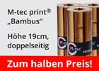 M-tec technology bedruckter Bambus-Zaunstreifen