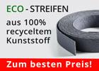 ECO-Streifen aus Recycling Kunststoff