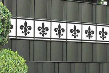 M-tec design Sichtschutzstreifen Französische Lilie