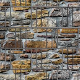 Weich PVC mit Steinmauer Motiv